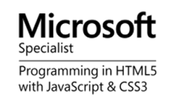 Certified Web developers by Microsoft