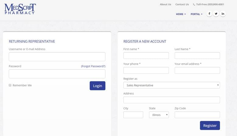 Online Pharmacy System Development login