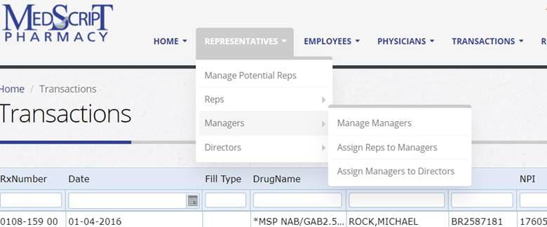 Online Pharmacy System Development main menu