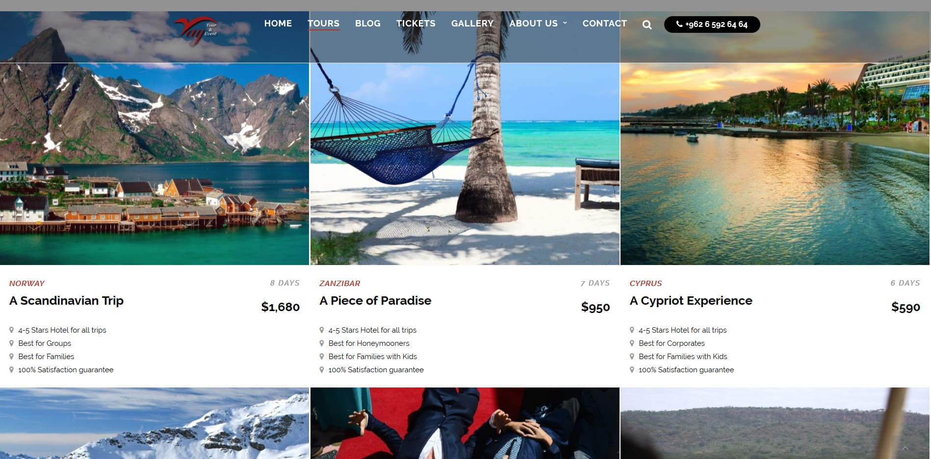 Web design marketing travel agency