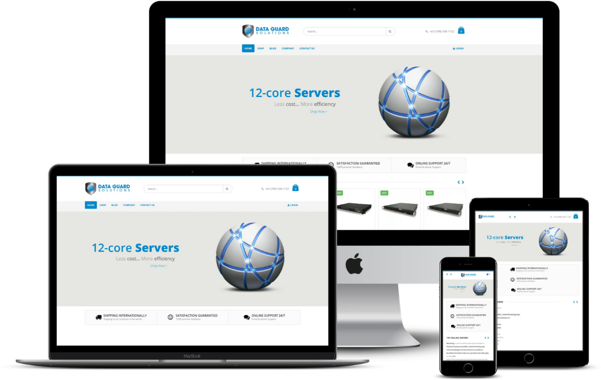 Online Store for Servers Company